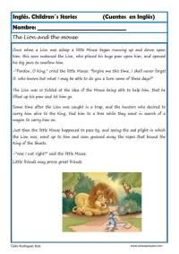 comprensión lectora inlges cuentos 01