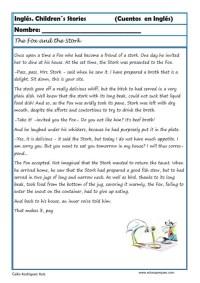 comprensión lectora inlges cuentos 11