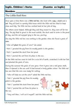 comprensión lectora inlges cuentos 17