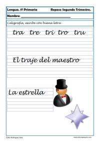 ejercicios lengua primero primaria 11