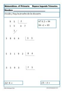 ejercicios matemáticas cuarto primaria 05