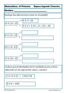 ejercicios matemáticas cuarto primaria 06