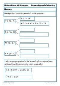 ejercicios matemáticas cuarto primaria 21