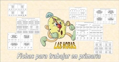 Fichas para aprender las horas, Fichas para aprender las horas en primaria