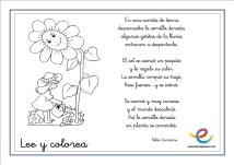 lee y colorea primavera 05