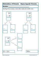 Ejercicios de matematicas para segundo de primaria