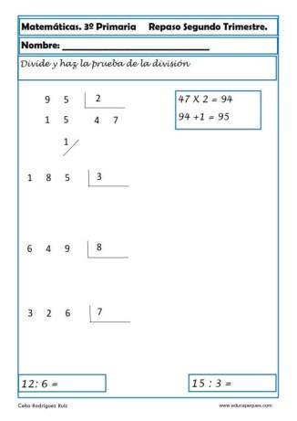 matemáticas tercero primaria 12