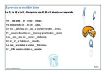 ejercicios de ortografia para primaria