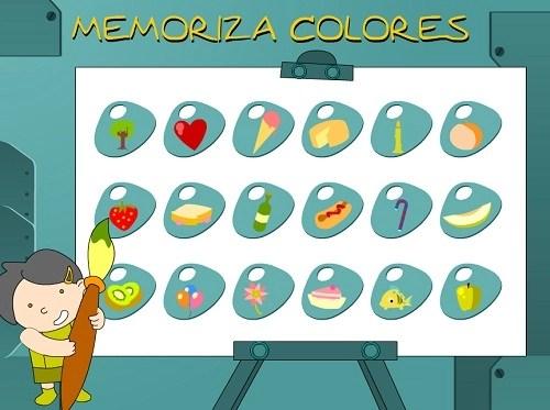 Juegos de memoria colores nivel1