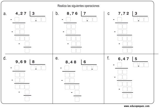 divisiones primaria 15
