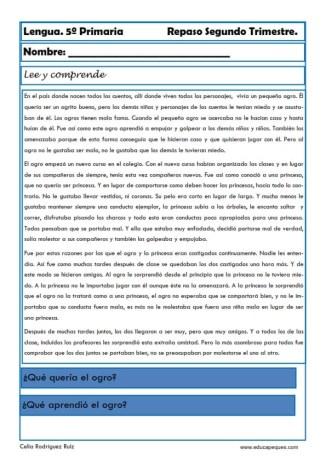 Fichas lengua quinto primaria 21