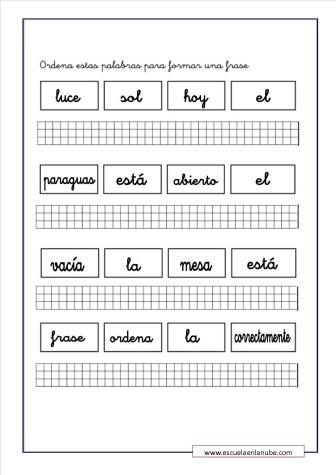 ejercicios de lengua 6