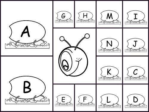 gusano del abecedario