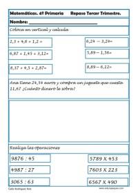 matemáticas cuarto primaria 14