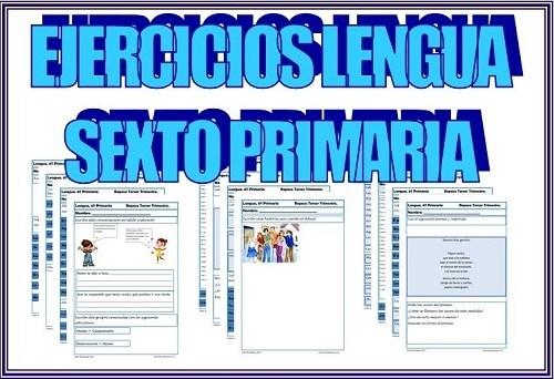 ejercicios lengua sexto primaria