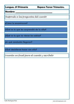 fichas lengua quinto primaria 08