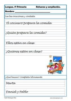 aprender repasar lengua primaria 27