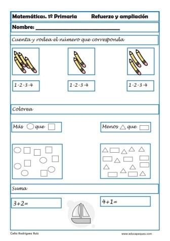 matemáticas primero primaria 01