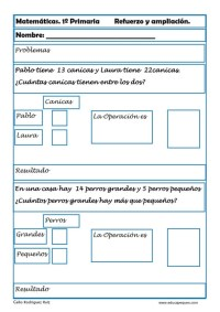 matemáticas primero primaria 11