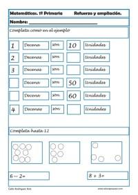 matemáticas primero primaria 12