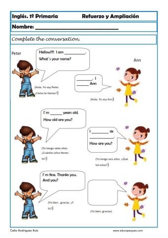 Aprende Y Repasa Ingles Primaria Ninos 6 7 Anos