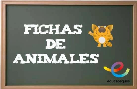 Fichas infantil animales