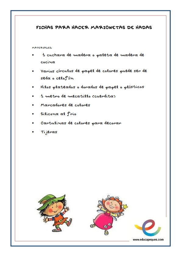 Fichas- Manualidades y fichas de trabajos e ideas para trabajar con Hadas y Duendes_001