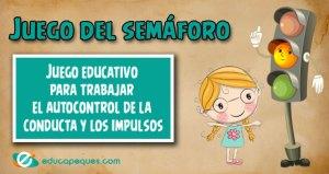 juego del semáforo, semáforo de la conducta, semáforo para niños