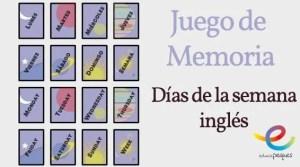 Juego de memoria en ingles