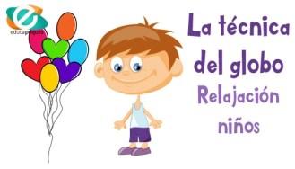 relajación, tecnicas de relajación, relajación niños, técnica del globo, ejercicios de relajación