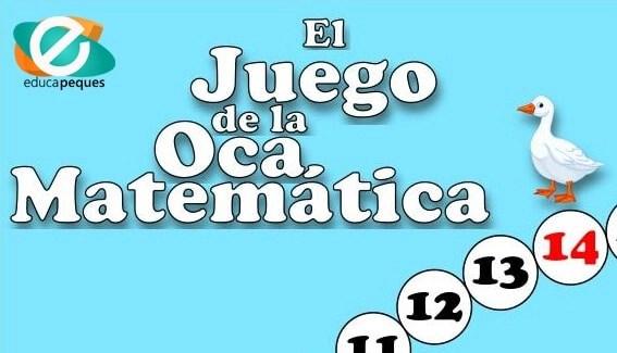 juego educativo de matemáticas, juego de la oca, juego de matemáticas, juegos matemáticos para niños