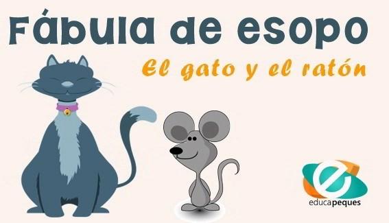 Fabula de esopo el gato y el ratón