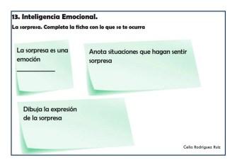 Fichas desarrollo emocional 13