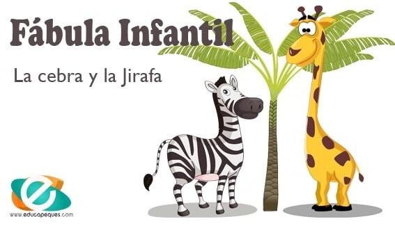 Fábula infantil la cebra y la jirafa