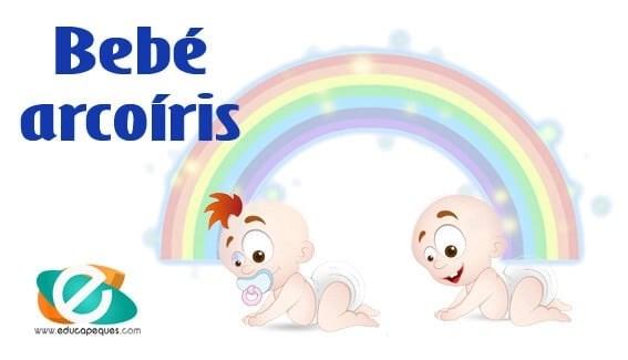 Bebé arcoíris y niño estrella