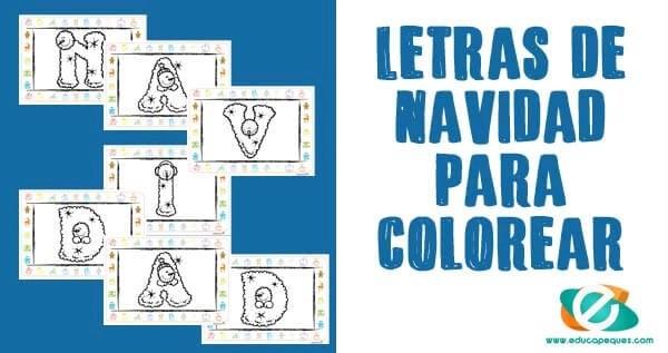 letras de navidad para colorear