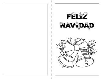 postales de navidad para colorear
