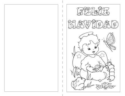 tarjetas de navidad para colorear