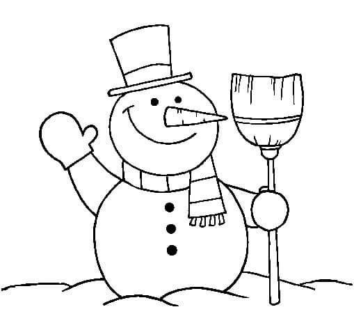 Colorear Muñeco de nieve