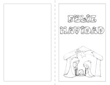 postales navideñas para colorear