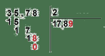 divisiones con decimales en el dividendo