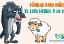 Fábula para niños de primaria: El lobo herido y la oveja.