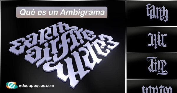 ambigrama, ejemplos de ambigrama