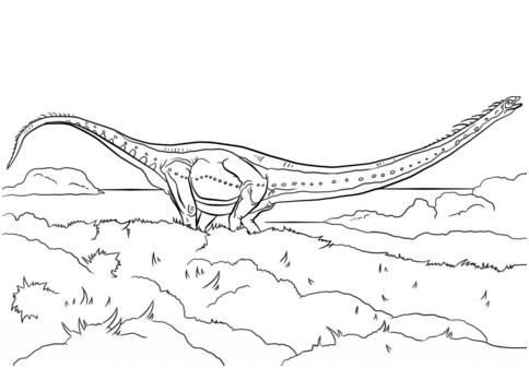 Mamenchisaurus para colorear