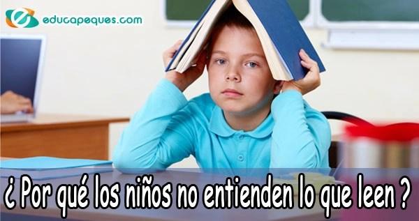por que los niños no entienden lo que leen
