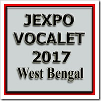 JEXPO-VOCALET- 2017- Polytechnic Entrance Exam in West Bengal- 2017