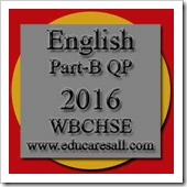 English Part B Question Paper HS final exam 2016
