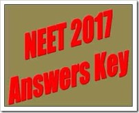 NEET 2017 Answers key and omr sheet