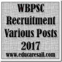 WBPSC Recruitment Various Posts 2017