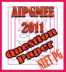 AIPGMEE 2011 Question Paper - NEET PG 2019